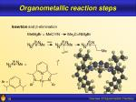 organometallic reaction steps19