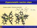 organometallic reaction steps21