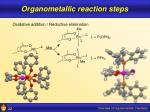 organometallic reaction steps22