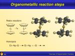 organometallic reaction steps24