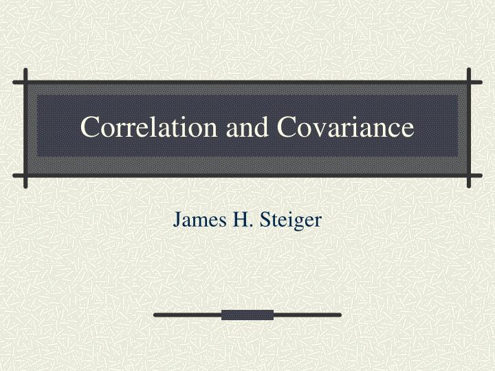 correlation and covariance n.