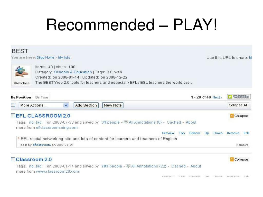 Recommended – PLAY!