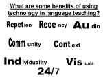 what are some benefits of using technology in language teaching