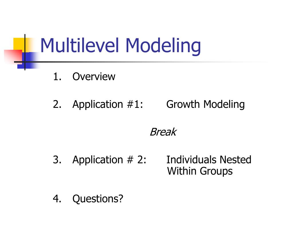 multilevel modeling l.