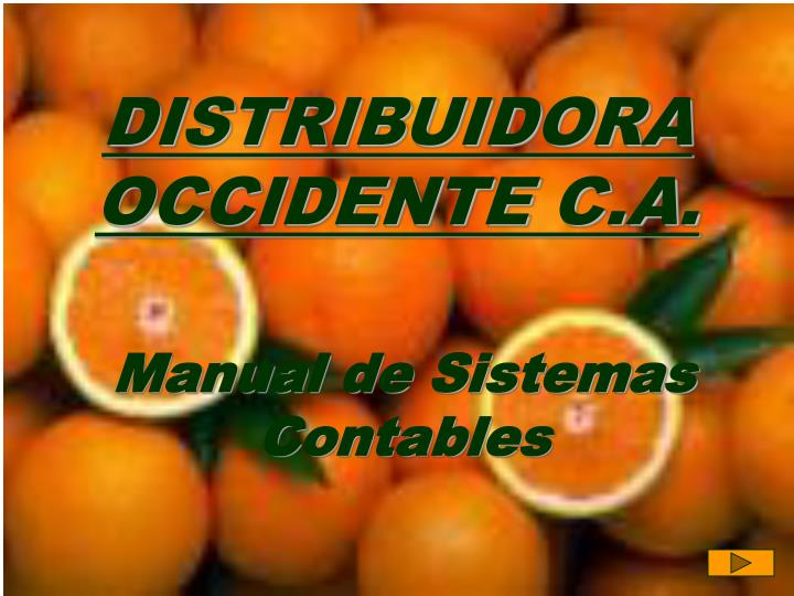Distribuidora occidente c a