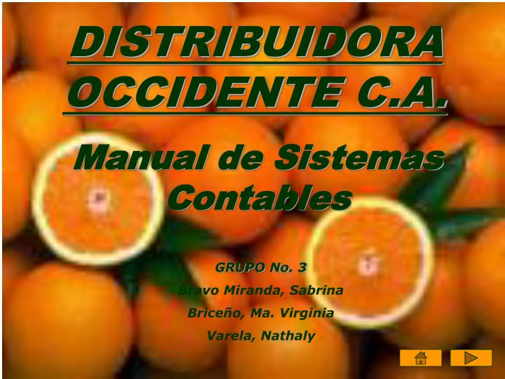 Distribuidora occidente c a2