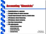 accounting gimmicks