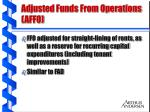 adjusted funds from operations affo