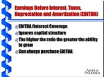 earnings before interest taxes depreciation and amortization ebitda