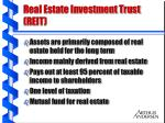 real estate investment trust reit