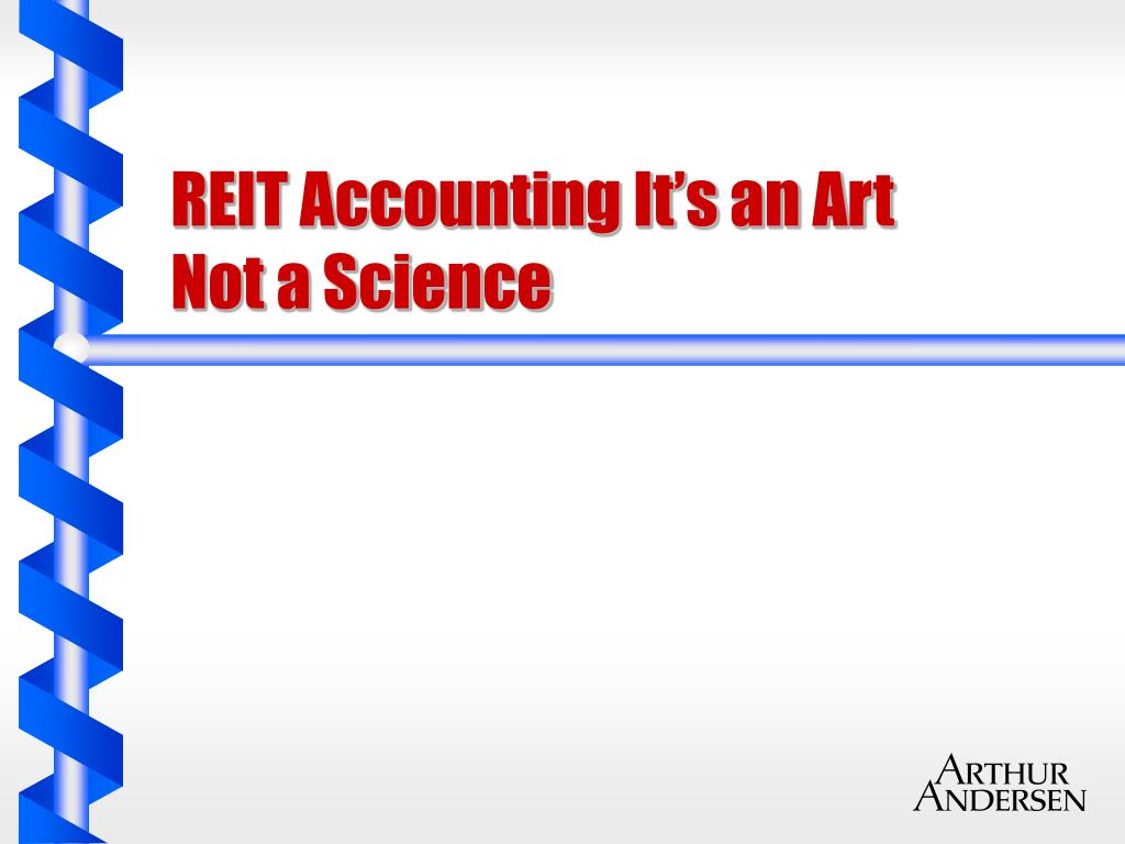 reit accounting it s an art not a science l.
