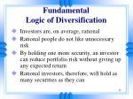 fundamental logic of diversification