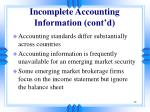 incomplete accounting information cont d