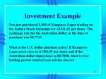 investment example