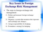 key issues in foreign exchange risk management