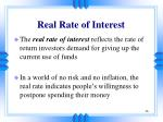 real rate of interest