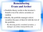remembering evans and archer