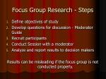 focus group research steps