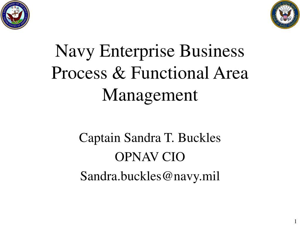 navy enterprise business process functional area management l.