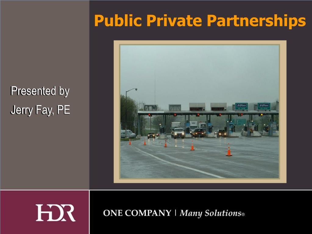public private partnerships l.