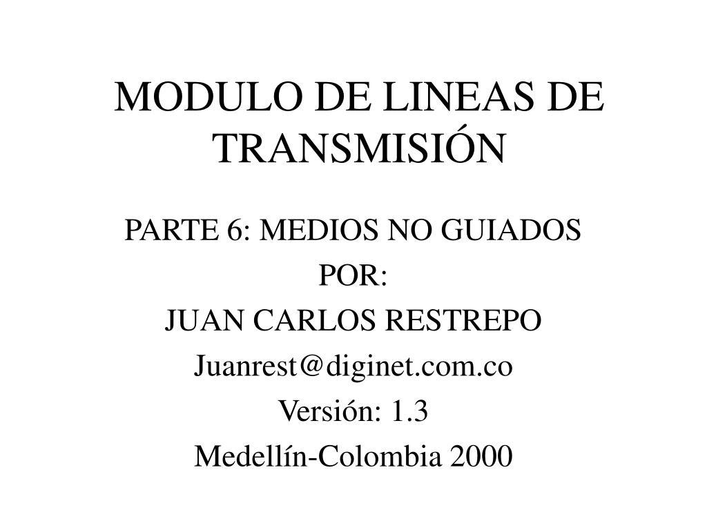 modulo de lineas de transmisi n l.