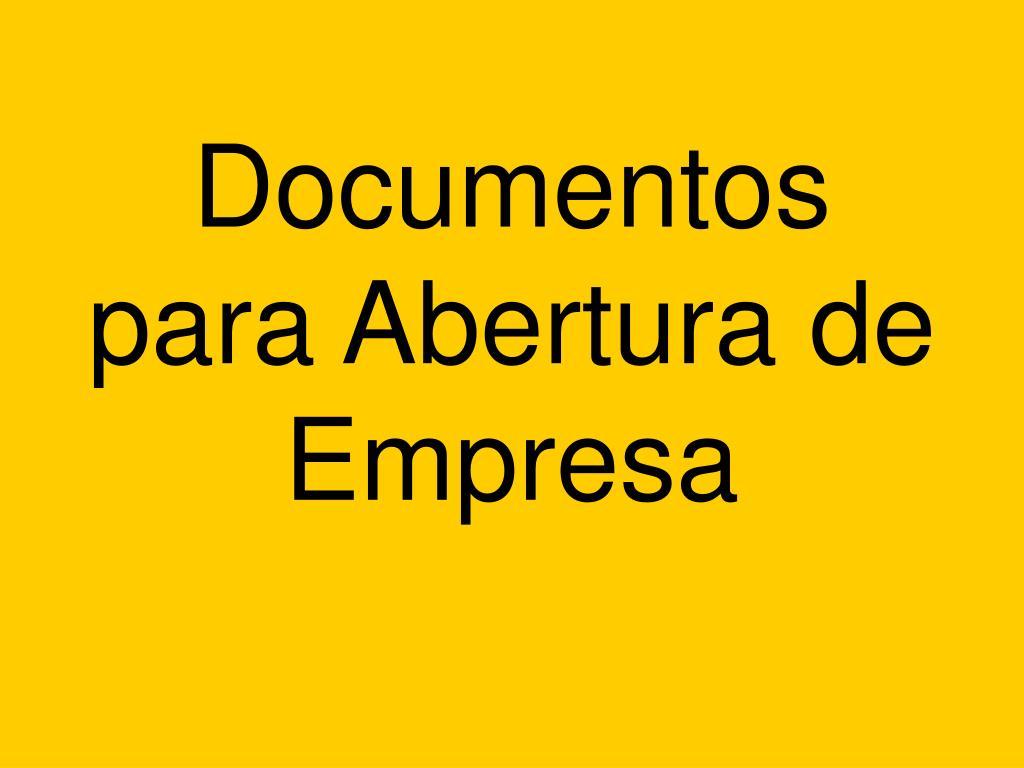 documentos para abertura de empresa l.