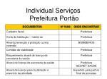 individual servi os prefeitura port o