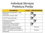 individual servi os prefeitura port o23