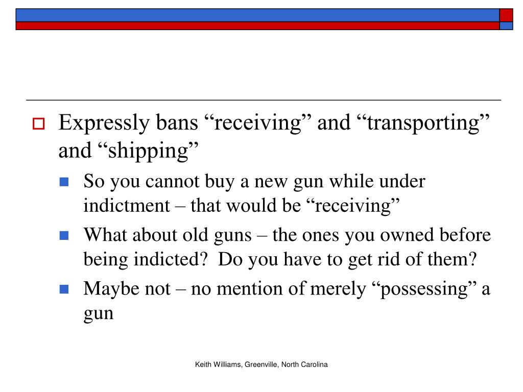 """Expressly bans """"receiving"""" and """"transporting"""" and """"shipping"""""""