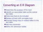 converting an e r diagram