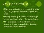 masking filtering