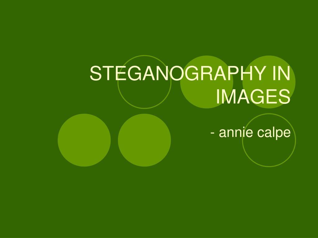 steganography in images l.