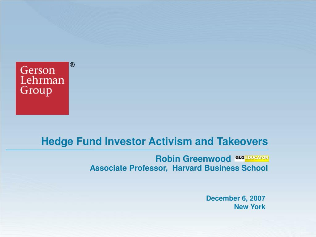 hedge fund investor activism and takeovers l.
