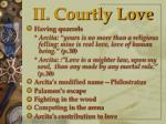 ii courtly love