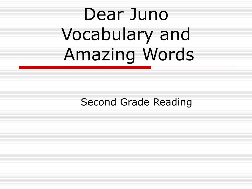 dear juno vocabulary and amazing words l.