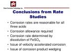 conclusions from rate studies