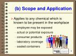 b scope and application