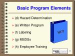 basic program elements