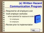 e written hazard communication program