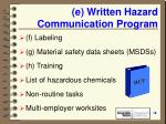 e written hazard communication program18