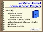 e written hazard communication program19