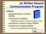 e written hazard communication program20