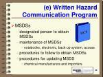 e written hazard communication program20