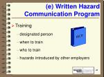 e written hazard communication program21