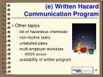 e written hazard communication program22