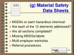 g material safety data sheets35