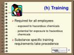 h training
