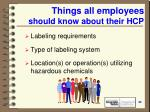 things all employees should know about their hcp