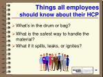 things all employees should know about their hcp42