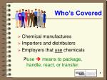 who s covered